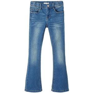 NAME IT meisjes skinny fit all over jeans medium blue denim nos