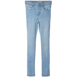 NAME IT meisjes skinny fit all over jeans light blue denim