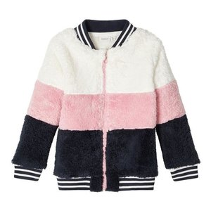 NAME IT meisjes tobina teddy vest pink nectar