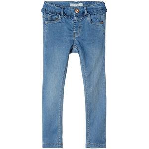 NAME IT meisjes skinny fit all over broek medium blue denim nos