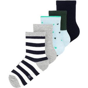 NAME IT jongens 5 paar sokken sterling blue