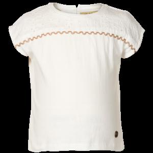 LE BIG meisjes t-shirt feather white rachel