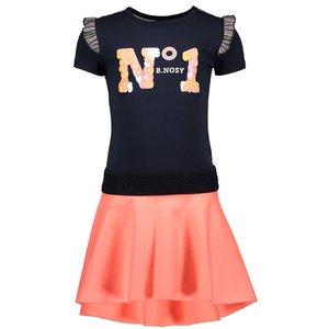 B.NOSY meisjes jurk oxford blue