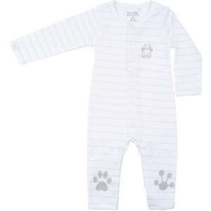 Frogs and Dogs meisjes onesie white