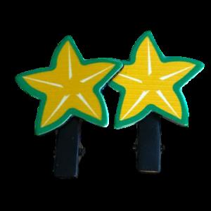 meisjes haarclips gele ster 2-pack