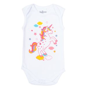 FUN2WEAR meisjes romper white unicorn