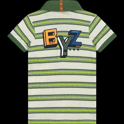 Quapi Quapi jongens polo jungle green stripe alvin