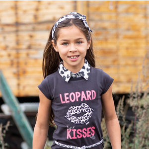 Quapi Quapi meisjes haarband dark grey leopard ashley