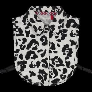 Quapi meisjes kraag dark grey leopard anoah