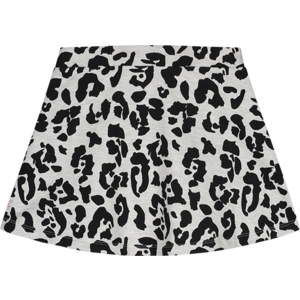 Quapi Quapi meisjes rok dark grey leopard angel