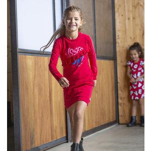 Quapi Quapi meisjes jurk cherry red abina