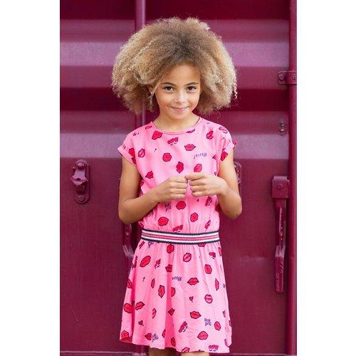 Quapi Quapi meisjes jurk lemonade pink lips adiva