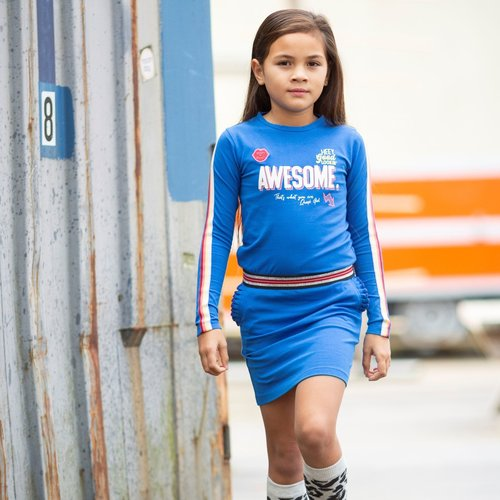 Quapi Quapi meisjes jurk berry blue abba