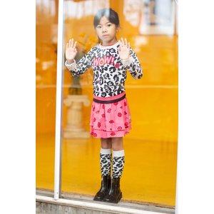 Quapi Quapi meisjes sokken dark grey leopard april