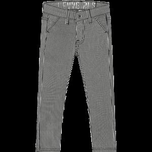 LEVV meisjes broek black white mini stripe