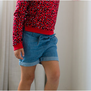LEVV meisjes korte broek blue chambray