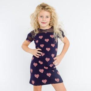 O'Chill meisjes jurk navy aurora