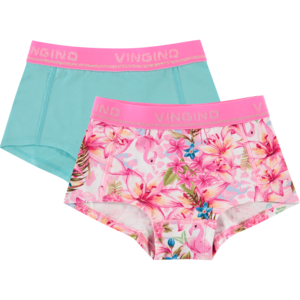 VINGINO meisjes 2-pack hipster neon pink tropical