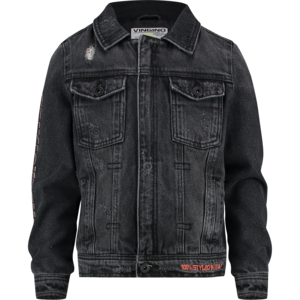 VINGINO jongens spijkerjas black vintage fusio
