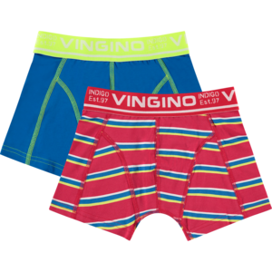 VINGINO jongens 2-pack boxershort classic red hero