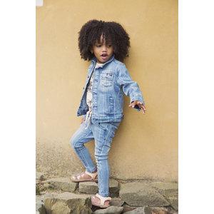 KOKO NOKO meisjes spijkerjas blue jeans stripe