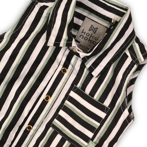 KOKO NOKO KOKO NOKO meisjes blouse stripe sage black white