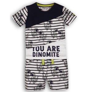 DIRKJE BABYKLEDING jongens 2 delige set navy white so sunny you are dinomite
