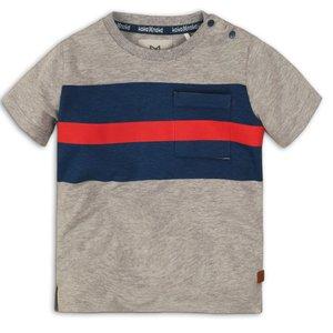 KOKO NOKO jongens t-shirt grey melee navy red