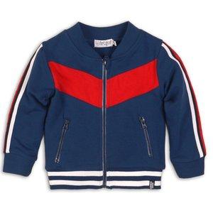 DIRKJE BABYKLEDING jongens vest mid blue red white