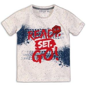 DIRKJE BABYKLEDING jongens t-shirt white melee mid blue
