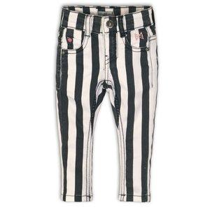 KOKO NOKO meisjes jeans broek stripes black white