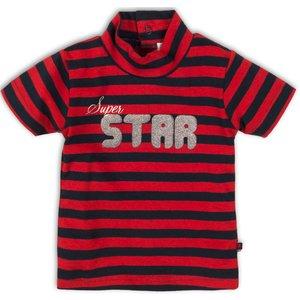 DIRKJE BABYKLEDING meisjes t-shirt red navy stripe