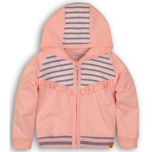 DIRKJE BABYKLEDING meisjes vest light pink light blue stripe