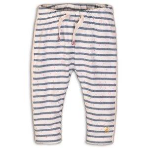DIRKJE BABYKLEDING meisjes broek light blue melee stripe