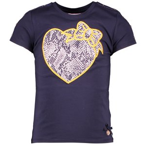 LE CHIC meisjes t-shirt blue navy