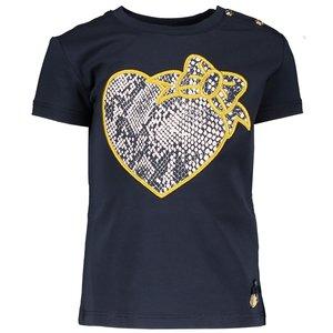 LE CHIC meisjes t-shirt blue navy