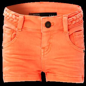 DUTCH DREAM DENIM meisjes jogjeans korte broek orange tangerine shamba