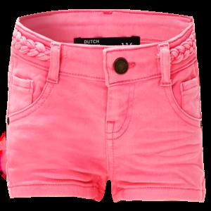DUTCH DREAM DENIM meisjes jogjeans korte broek shocking pink shamba
