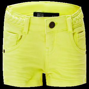 DUTCH DREAM DENIM meisjes jogjeans korte broek electric lime shamba