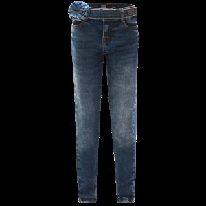 DUTCH DREAM DENIM meisjes power stretch skinny jeans mid blue kuzidi