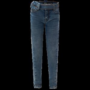 DUTCH DREAM DENIM meisjes power stretch skinny jeans light blue kuzidi