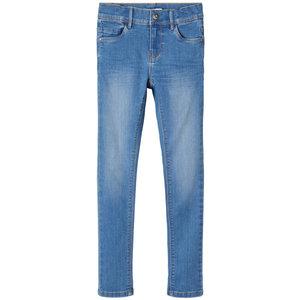 NAME IT meisjes skinny fit jeans polly medium blue denim noos