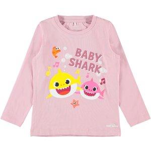 NAME IT meisjes longsleeve pink nectar baby shark