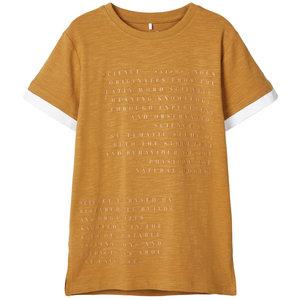 NAME IT jongens t-shirt bone brown