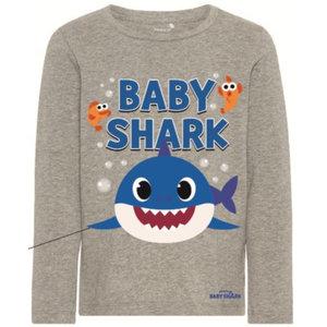 NAME IT jongens longsleeve grey melange baby shark