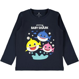 NAME IT jongens longsleeve dark sapphire baby shark