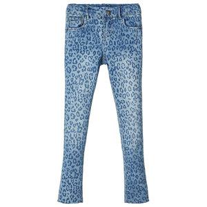 NAME IT meisjes skinny fit jeans light blue denim