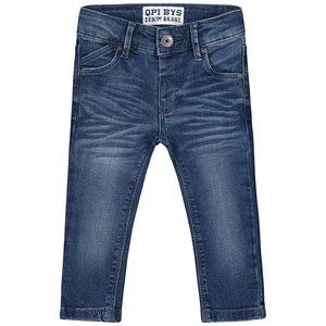 Quapi jongens jeans broek grey melee letter bouwe