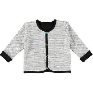 BAMPIDANO jongens reversible vest black/white stripe