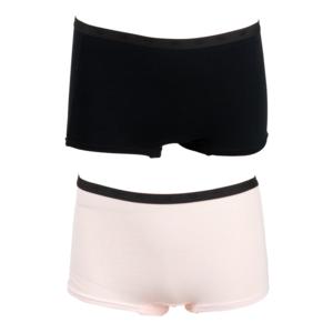 FUNDERWEAR meisjes 2-pack ondergoed black barely pink